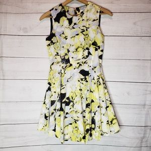 Bar III Flowy Yellow White and Black Summer Dress